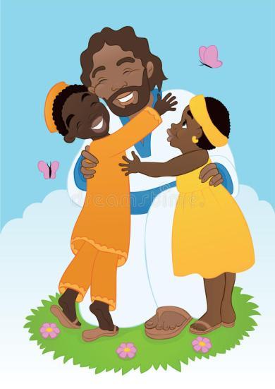 african-jesus-children-ethnic-christ-small-theme-loves-all-world-42193563